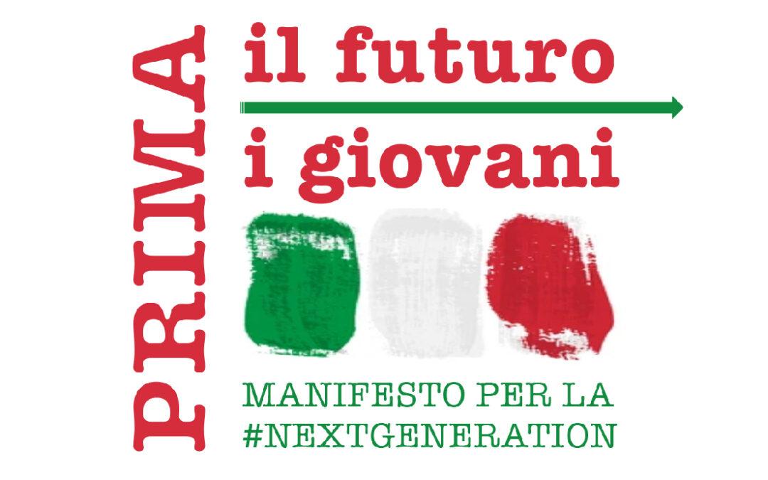PRIMA IL FUTURO. PRIMA I GIOVANI  Manifesto per la #NextGeneration