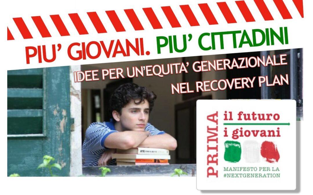 PIU' GIOVANI. PIU' CITTADINI. Idee per un'equità generazionale nel Recovery Plan.