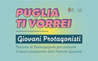 """""""Puglia ti vorrei – Giovani Protagonisti"""". Nuovo programma delle Politiche Giovanili (2020)"""