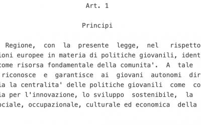 Regione Sicilia: c'è la legge sulle politiche giovanili